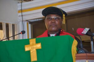 The Moderator of the General Assembly of the EPCG, Rt. Rev. Dr. Lt. Col. Bliss Divine Kofi Agbeko (rtd)